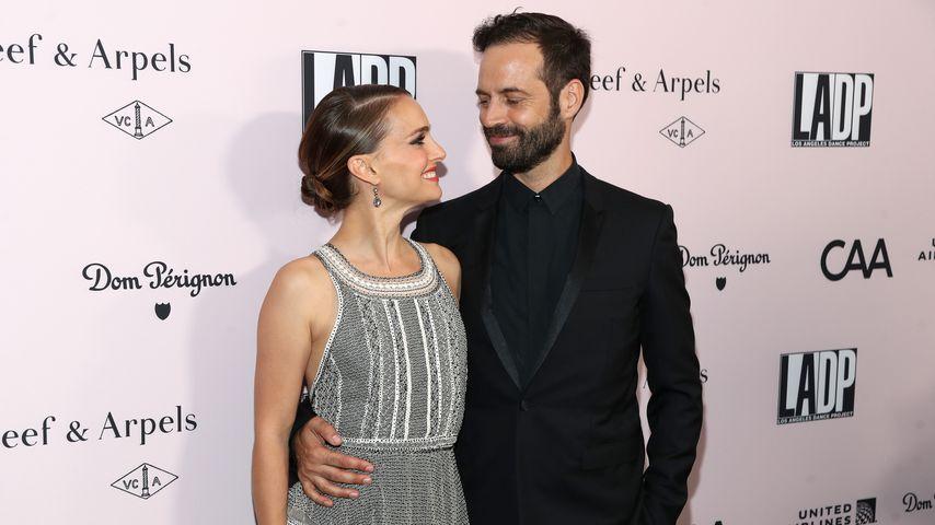 Natalie Portman und Benjamin Millepied im Oktober 2019 in Los Angeles
