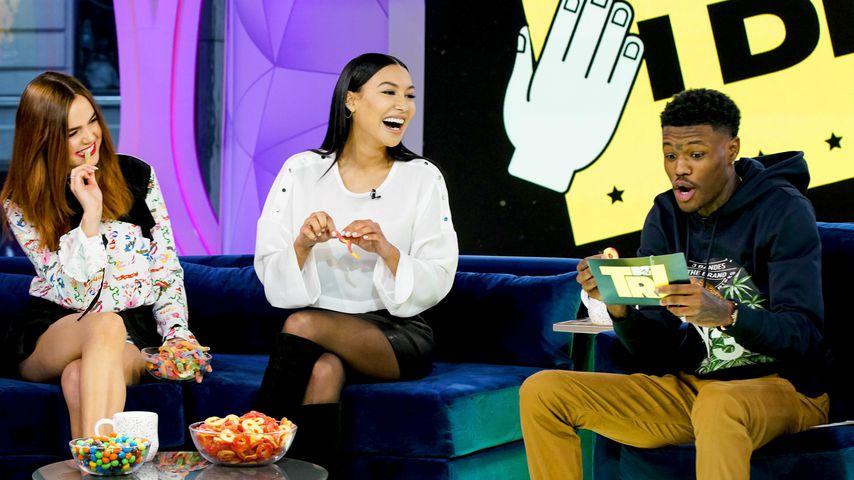 Bailee Madison, Naya Rivera und DC Young Fly bei MTV TRL am 31. Januar 2018