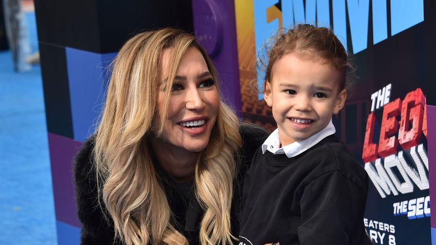 Naya Rivera mit ihrem Sohn Josey bei einer Premiere im Februar 2019