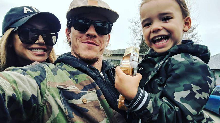 Naya Rivera, Ryan Dorsey und ihr Sohn Josey im Januar 2019