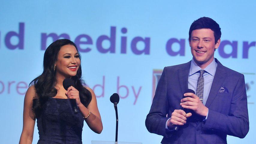 Naya Rivera und Cory Monteith bei einer Gala 2012