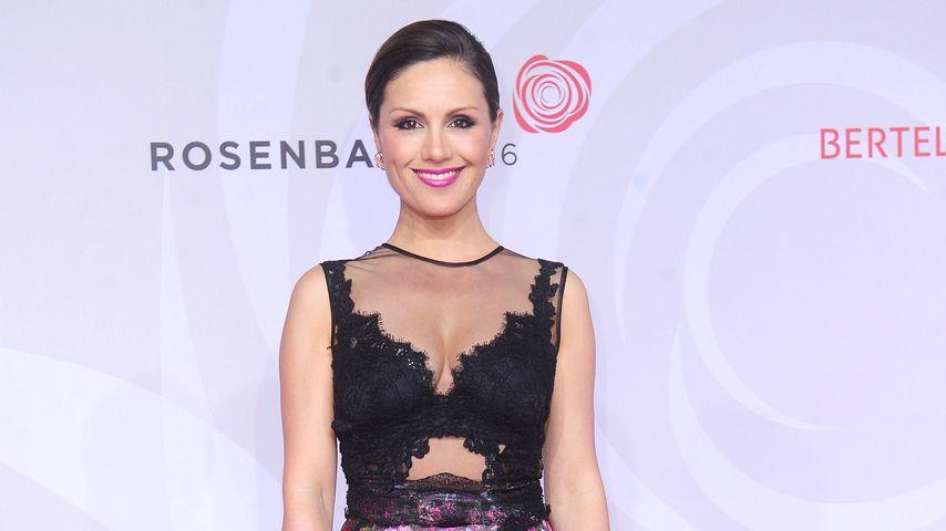 Nazan Eckes heimlich schon schwanger beim Rosenball im April 2016