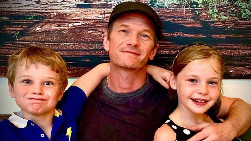Neil Patrick Harris mit seinen Kindern Harper und Gideon im Juni 2021