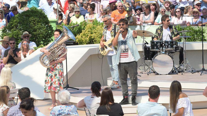 """Nevio Passaro bei einem Auftritt beim """"ZDF-Fernsehgarten"""""""