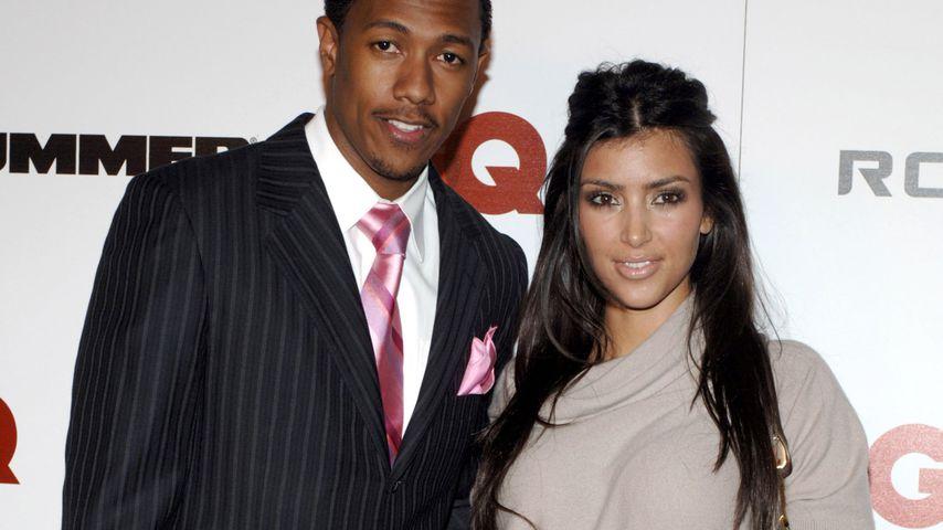 Nick Cannon und Kim Kardashian im November 2006