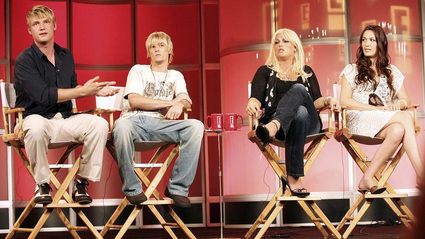 Nick Carter, Aaron Carter, Leslie Carter und Angel Carter im Juli 2006