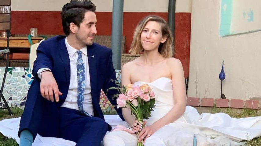 Nick Cron-DeVico und Eden Sher an ihrem Hochzeitstag
