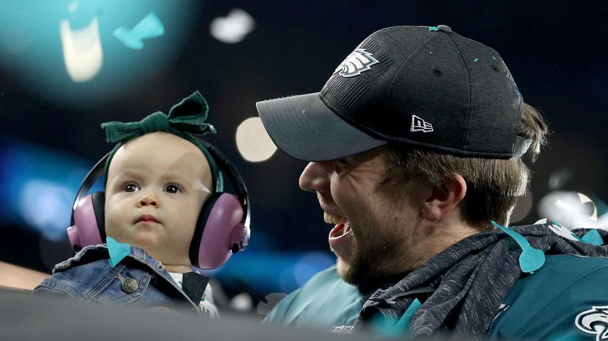 Nick Foles mit seiner Tochter Lily