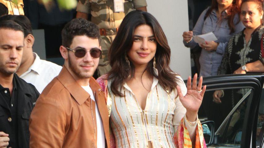 Nick Jonas und Priyanka Chopra in Mumbai