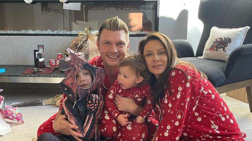 Nick und Lauren Carter mit ihren Kindern