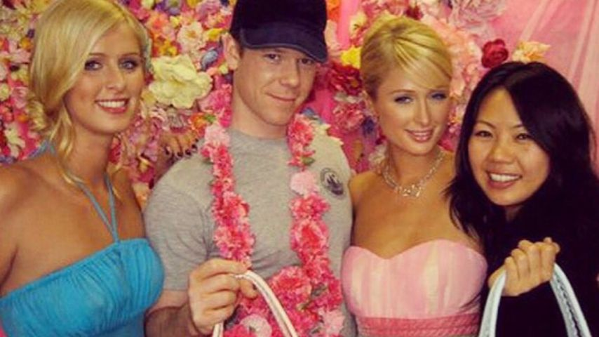 Paris Hilton, Nicky Hilton und Jake Bailey