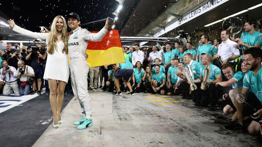 Nico Rosberg und seine Frau Vivian in Abu Dhabi