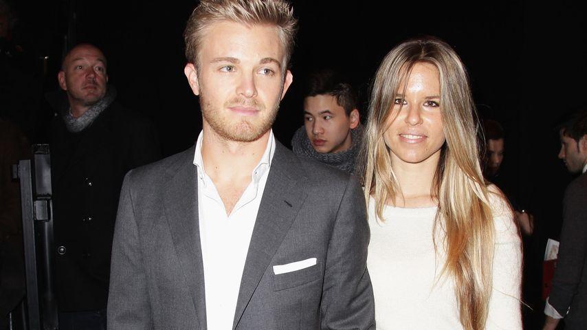 Nico Rosberg und Vivian Sibold bei der Mercedes Benz Fashion Week 2011