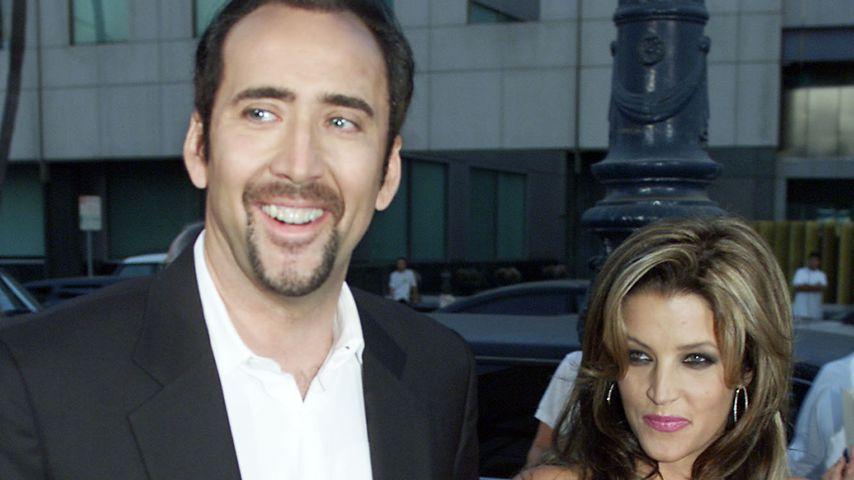 Nicolas Cage und Lisa Marie Presley im August 2001