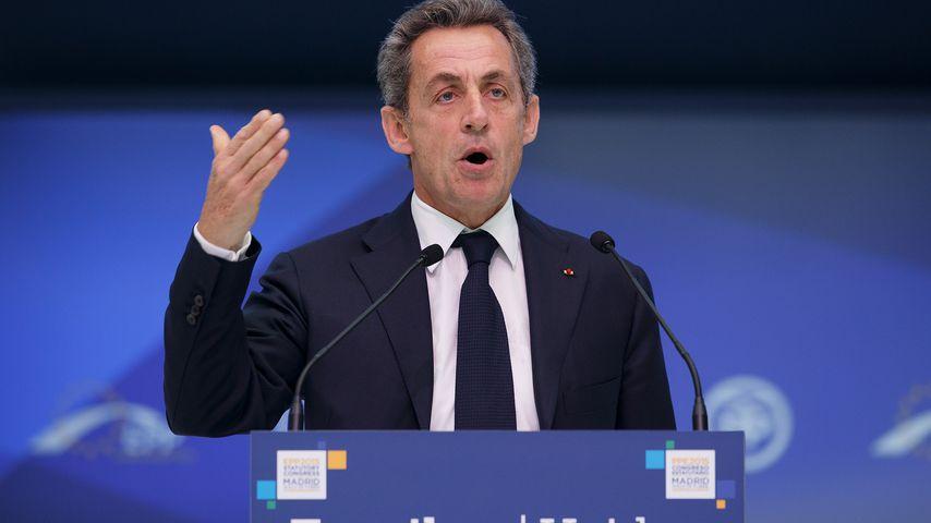 Nicolas Sarkozy auf einem Kongress in Madrid im Oktober 2015
