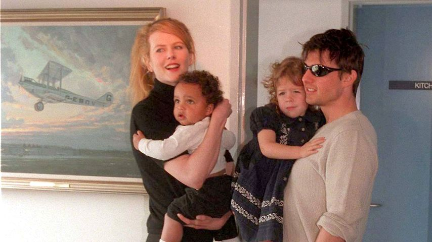 Nicole Kidman, Connor, Isabella und Tom Cruise, 1996