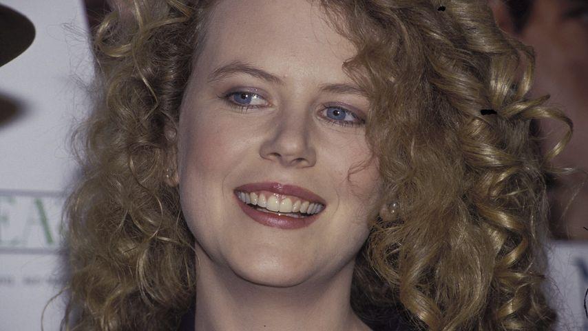 """Nicole Kidman auf einer Promo-Tour für den Film """"In einem fernen Land"""", 1992"""