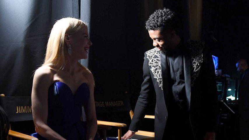 Nicole Kidman und Chadwick Boseman bei der 90. Oscar-Verleihung 2018