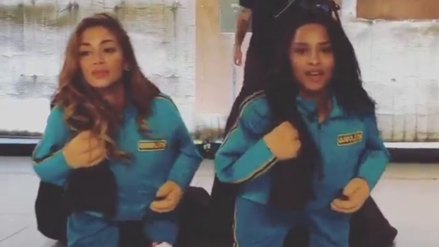 Spaßvögel! Nicole Scherzinger & Ciara tanzen als Mini-Mes