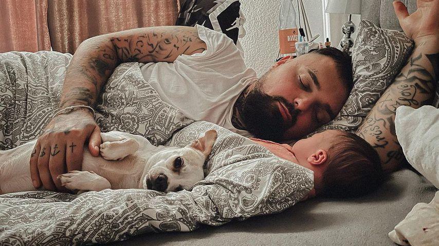 Nik Schröder mit seiner Tochter Hailey