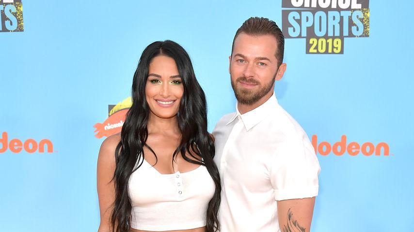 Nikki Bella und Artem Chigvintsev bei den Nickelodeon Kids' Choice Sports 2019
