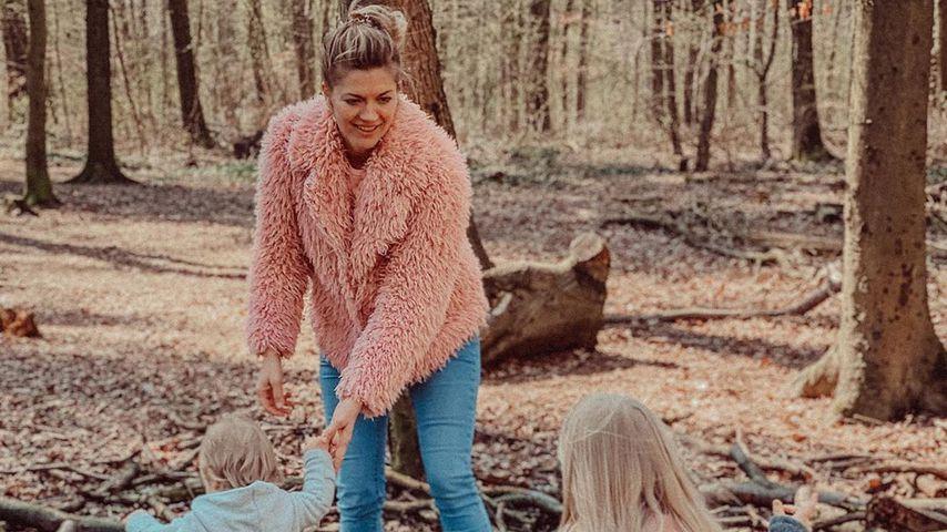Nina Bott mit Sohn Lio und Tochter Luna im April 2020