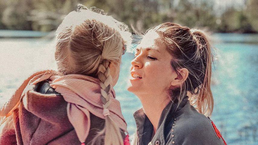Nina Bott mit ihrer Tochter, April 2020