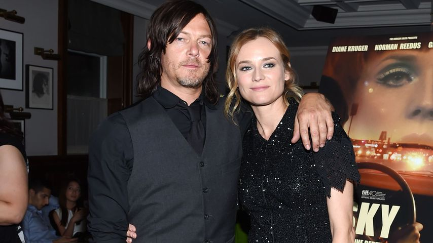 Norman Reedus with beautiful, sexy, Girlfriend
