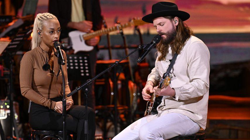 "Nura und Ian Hooper bei ""Sing meinen Song"" 2021"