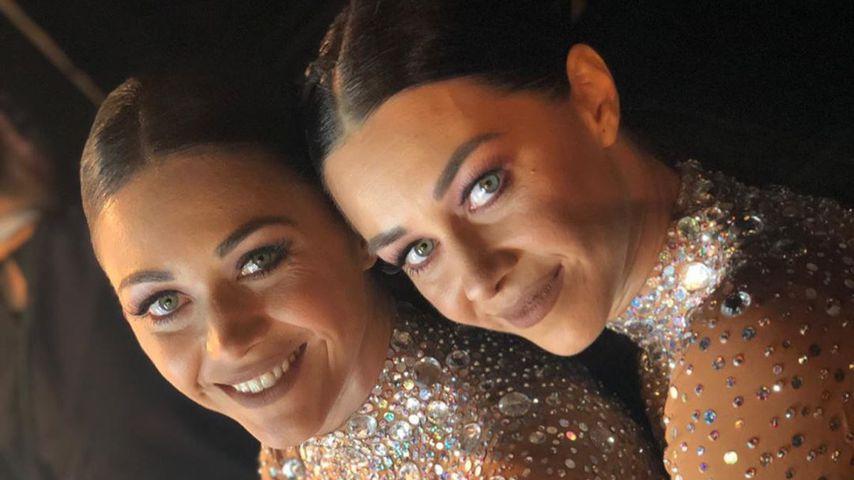 """Oana Nechiti mit ihrer Schwester bei """"Let's Dance"""""""