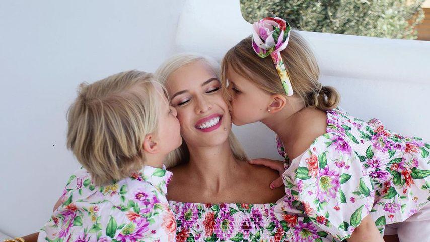 Oksana Kolenitchenko mit ihren Kindern