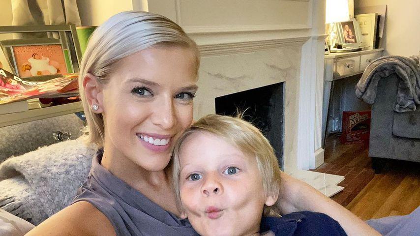 Oksana Kolenitchenko mit ihrem Sohn Milan