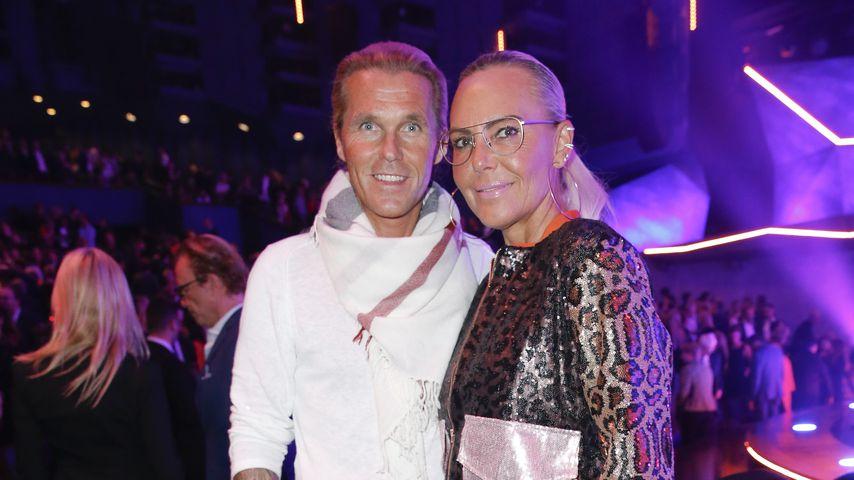 """Oliver Schumann und Natascha Ochsenknecht bei der Preview der """"VIVID Grand Show"""" in Berlin, 2018"""