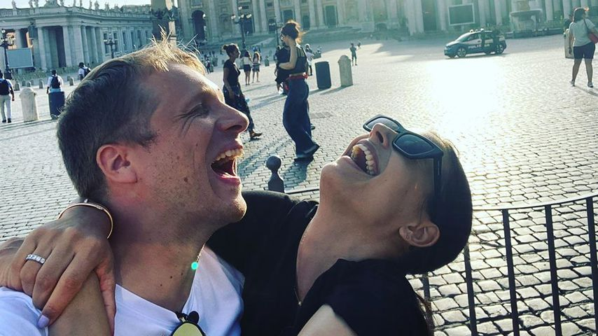 Oliver und Amira Pocher in Rom, 2020