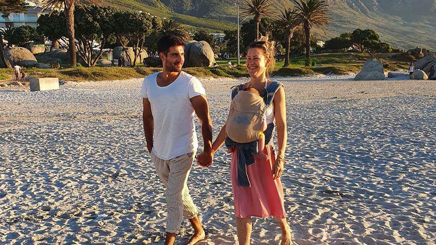 Oliver Vaid, Söhnchen Avi und Wolke Hegenbarth in Südafrika im Februar 2020