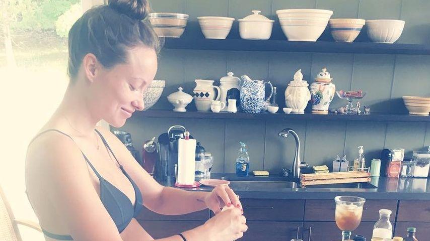 Olivia Wilde während ihrer zweiten Schwangerschaft im Juli 2016