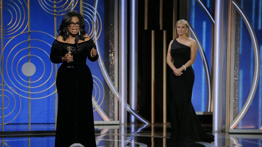 Oprah Winfrey und Reese Witherspoon bei den Golden Globes 2018