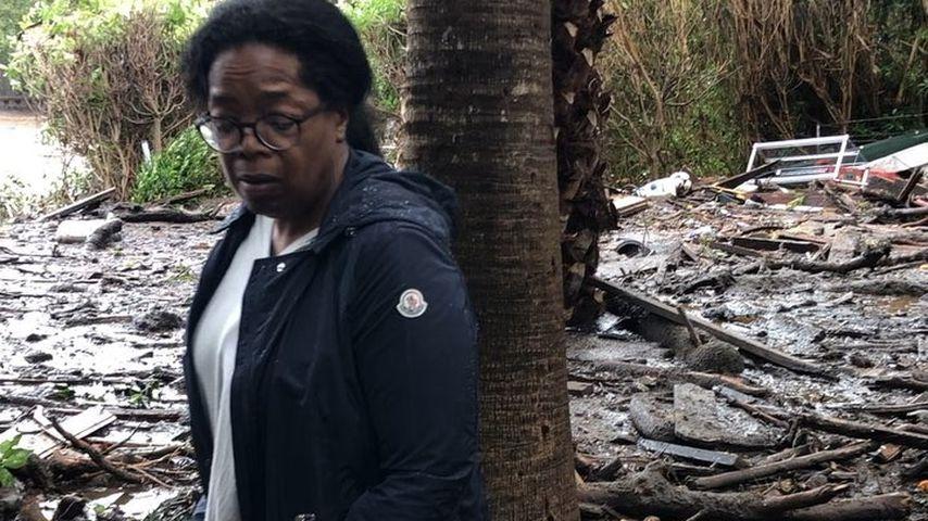 Oprah Winfrey auf ihrem Anwesen in Montecito