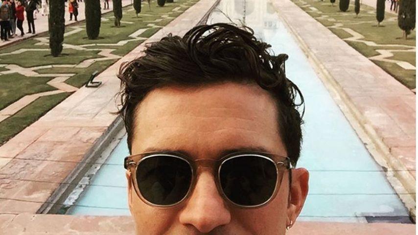 Orlando Bloom vor dem Taj Mahal