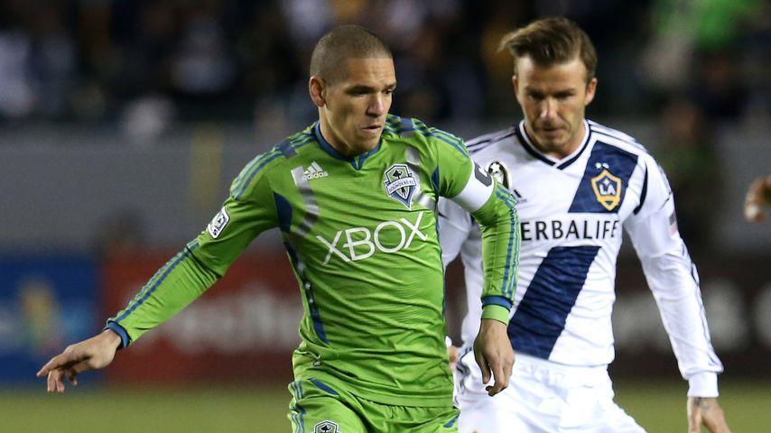 Osvaldo Alonso und David Beckham, 2012