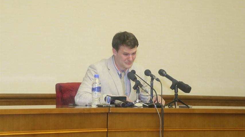 Otto Warmbier in Pjöngjang, 2016