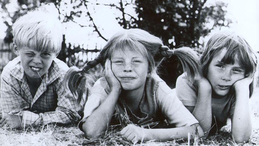 """Pär Sundberg, Inger Nilsson und Maria Persson 1975 in """"Pippi Langstrumpf"""""""