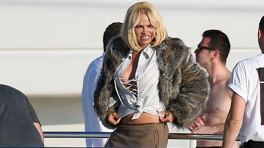 Erotik-Star auf der Tribüne: Pamela feuert Liebes-Kicker an