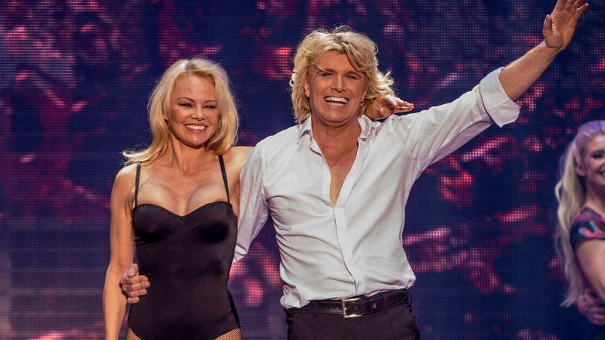 Pamela Anderson und Hans Klok in Berlin
