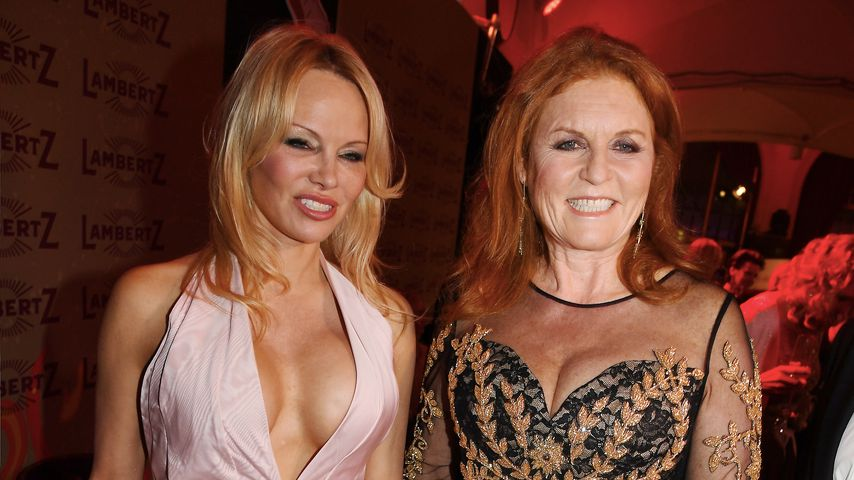 "Pamela Anderson und Sarah Ferguson bei der ""Lambertz Monday Night"""