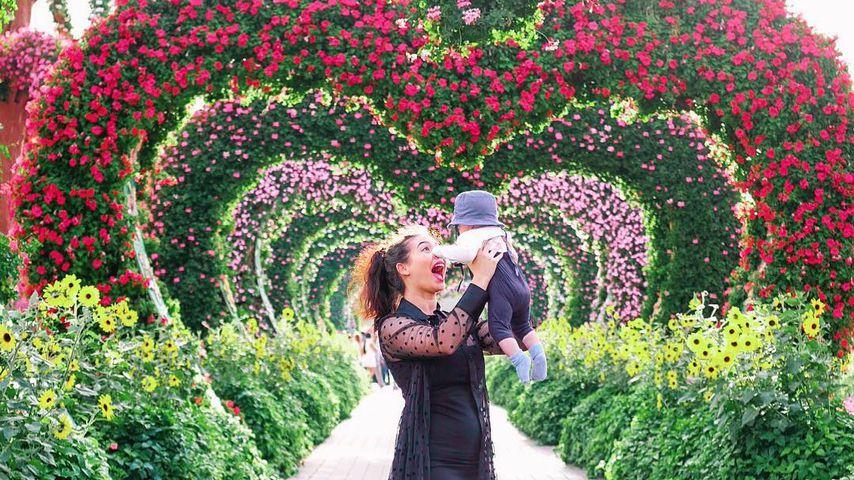 Paola Maria und Söhnchen Leo im Dubai-Urlaub