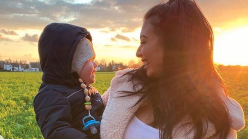Paola Maria mit ihrem Sohn Leo