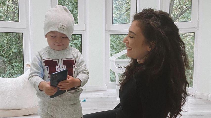 Paola Maria mit ihrem Sohn Leonardo