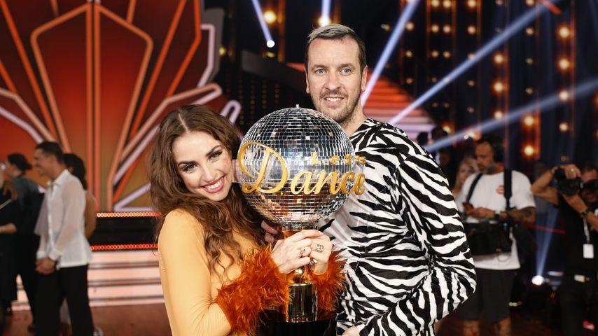 "Pascal Hens und Ekaterina Leonova nach ihrem Sieg bei ""Let's Dance"""