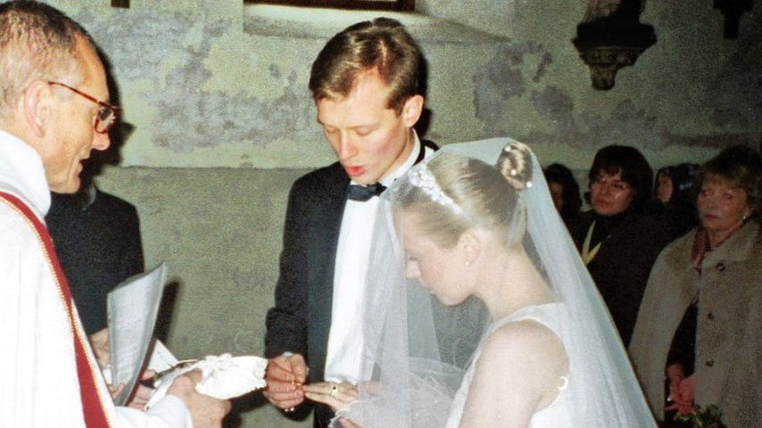 Patricia Kelly und ihr Mann Denis Sawinkin bei ihrer Hochzeit 2001